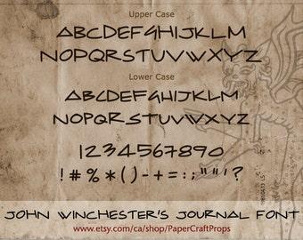 Winchesters pdf john journal