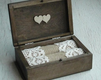 Wedding ring box Personalized wedding ring holder Ring bearer pillow  Rustic ring box Wedding ring holder Ring pillow alternative