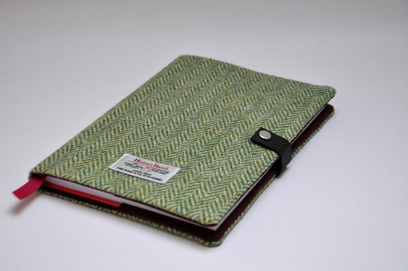 HARRIS TWEED fabric notebook cover - Original Collection (Notebook included)