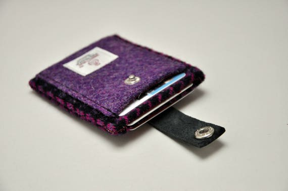 a52534fba352 HARRIS TWEED card holder wallet Tenterden Collection
