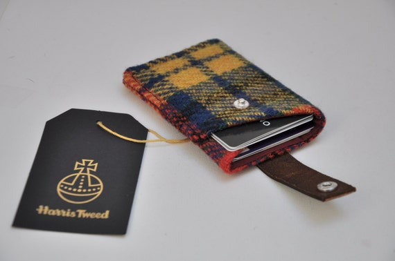 bab1776b58d4 HARRIS TWEED card holder wallet Cheltenham Collection