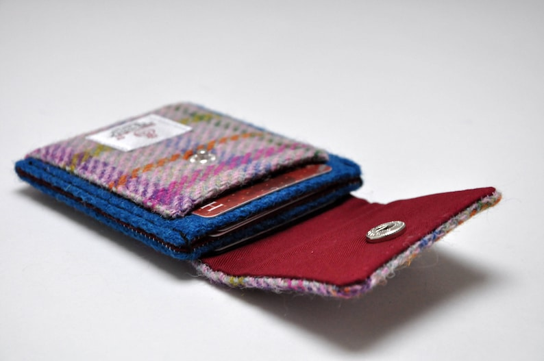 440ada6895a6 HARRIS TWEED card holder wallet Aberdeen Collection