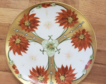 Handpainted Chinese gold plate