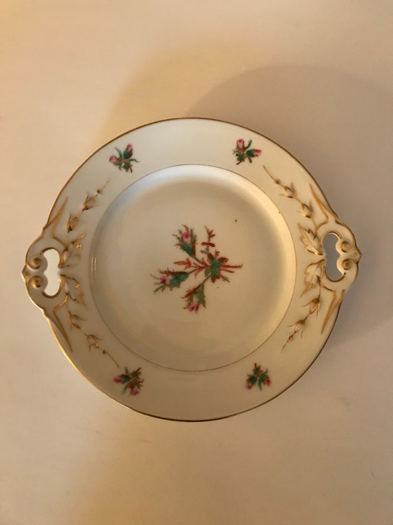 "Antique Old Paris Porcelain  6 1//2/"" round footed bowl mid 1800s"