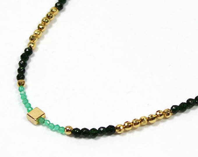 """Featured listing image: choker """"Green is my favorite Color"""""""