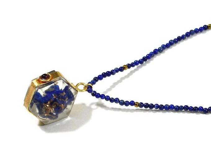 lapis lazuli necklace and pendant
