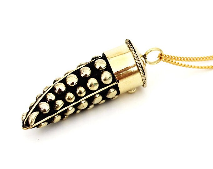 Necklace with a studded Horn pendant