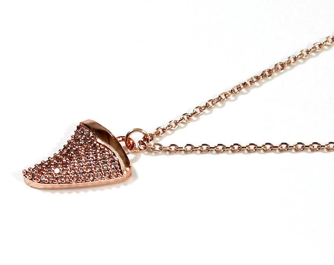 Choker with pave shark tooth pendant