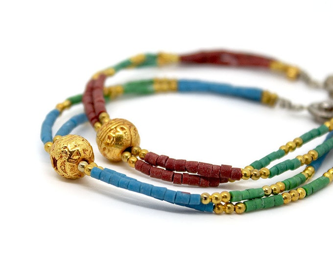 bracelets with pearls and gold-plated