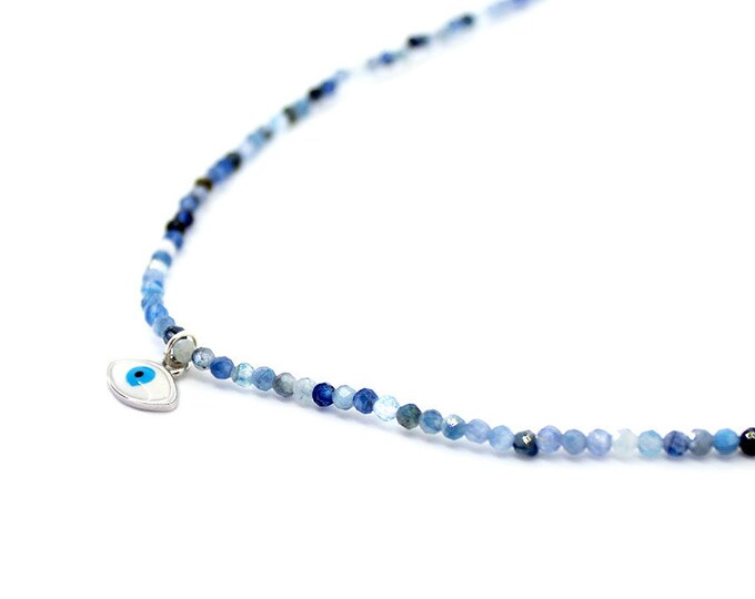 kyanite with eye pendant Choker