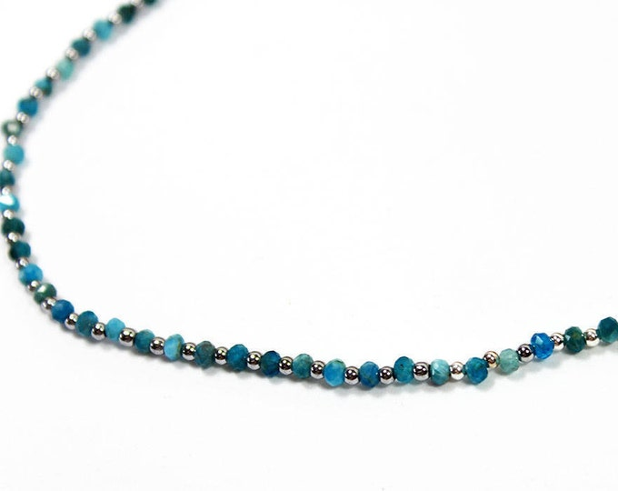 Silver and blue agate chocker