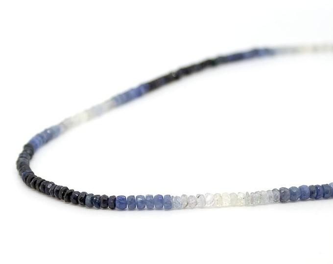 Sapphire Choker. Color gradient. Tie-dye