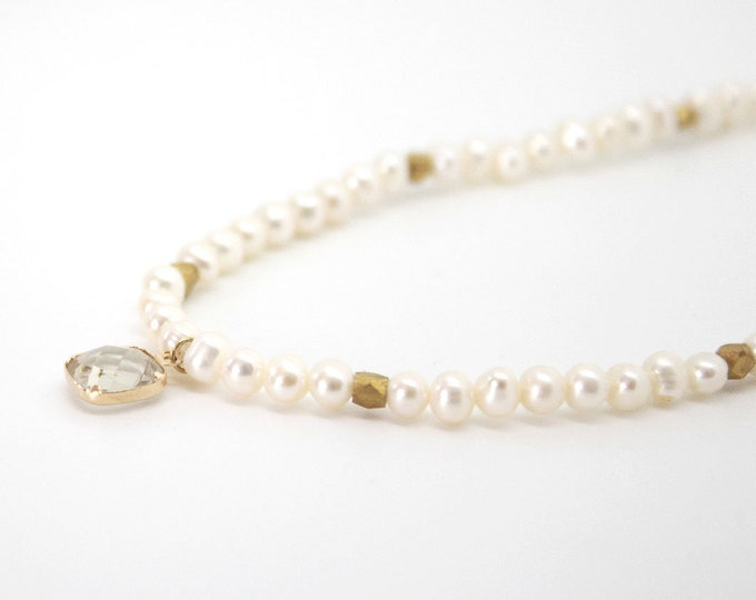 Freshwater Pearl Necklace and a Crystal pendant