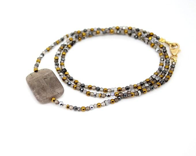 autumn bracelet. multi gems 3 rounds