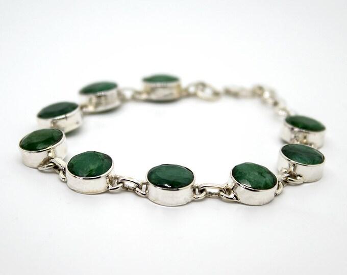 bracelet en émeraude - saphir - rubis