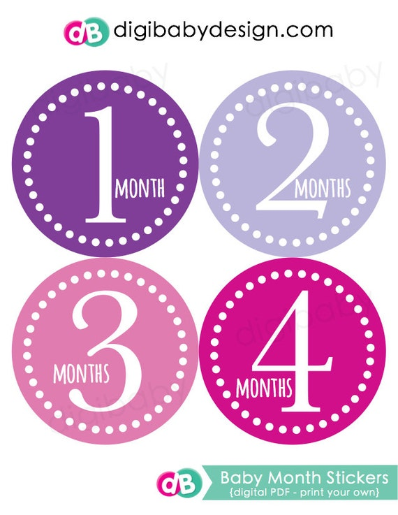 picture about Baby Month Stickers Printable called Printable Child Thirty day period Stickers, Crimson Youngster Stickers, Every month