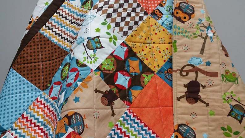 Safari Baby Quilt Hooty Hoot Crib Bedding Nursery Cot Etsy