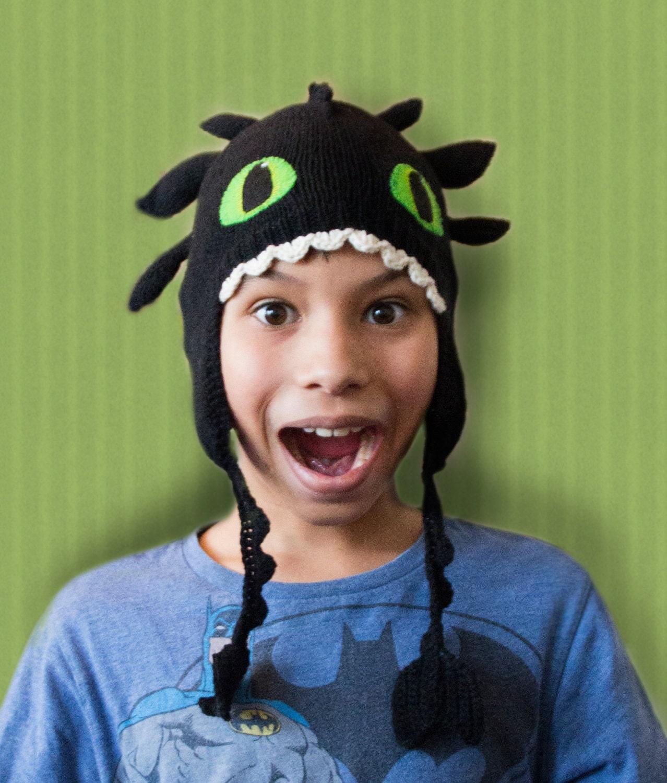 Toothless dragon hat knitting pattern from TiggsTogs on Etsy Studio