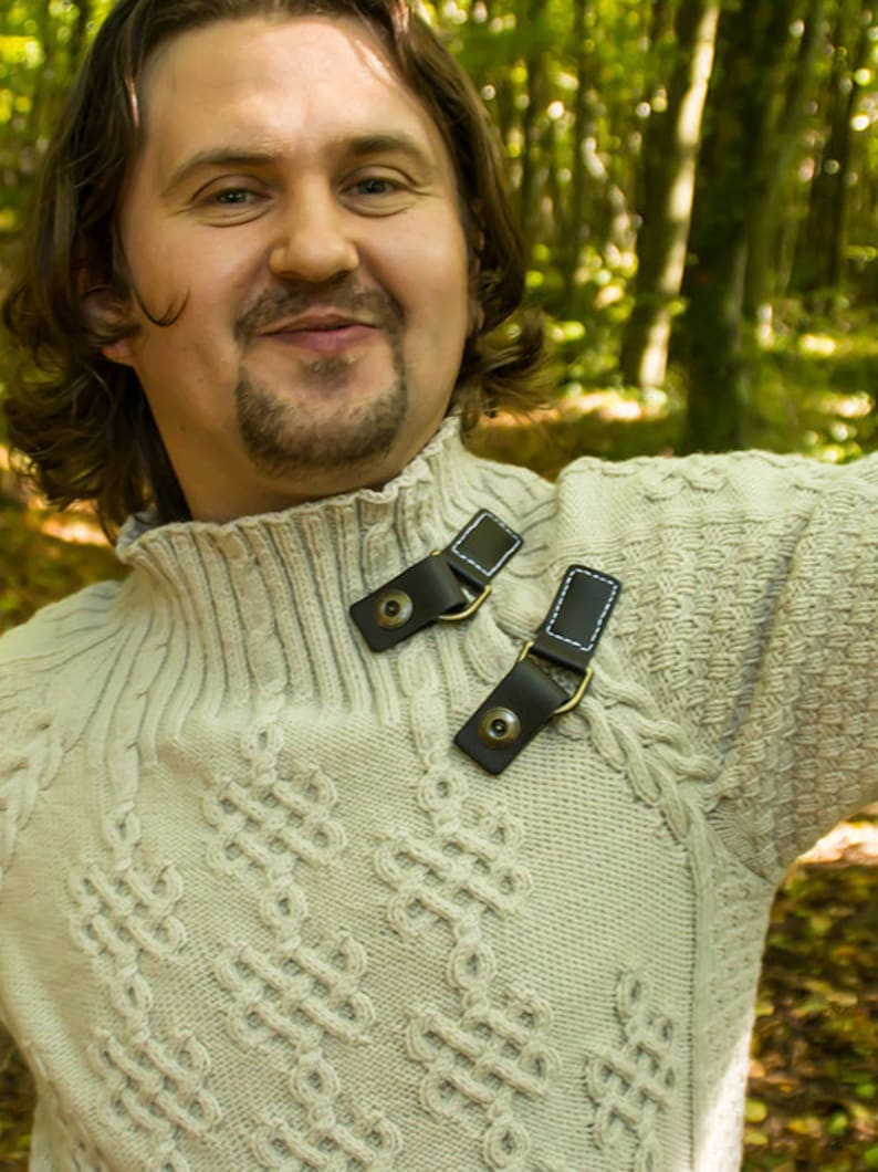 Henry Tudor cable sweater knitting pattern image 0