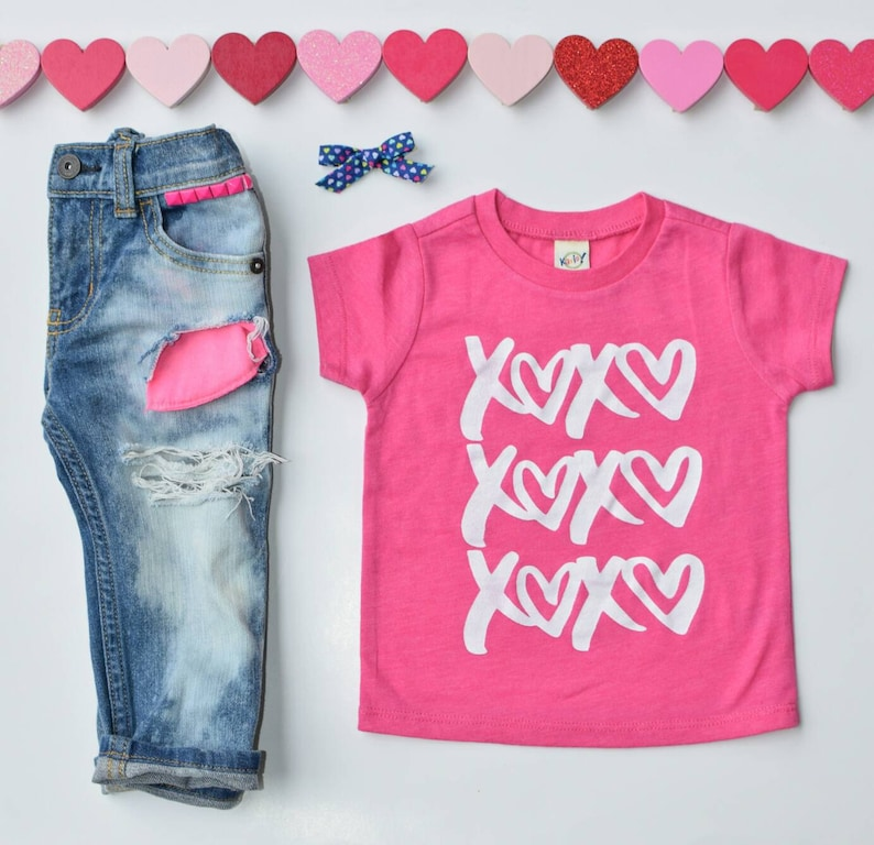 6f6996a2f Valentines Day Baby Shirts / Xoxo / Toddler Shirt / Kids | Etsy