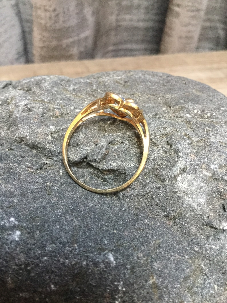 Double Heart Gold Ring