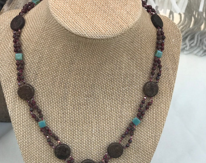 Beaded Disk Necklace