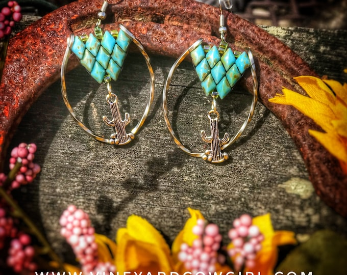 Twisted Cactus Earrings