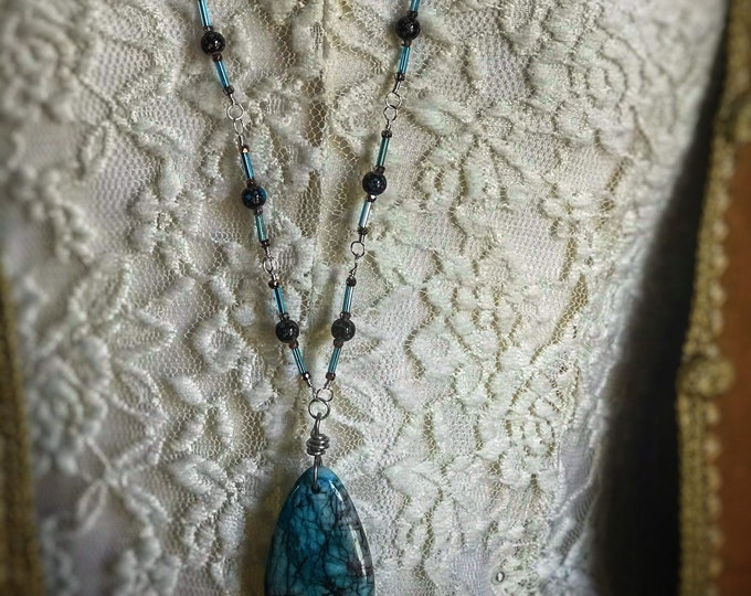 Long Chrysocolla Necklace