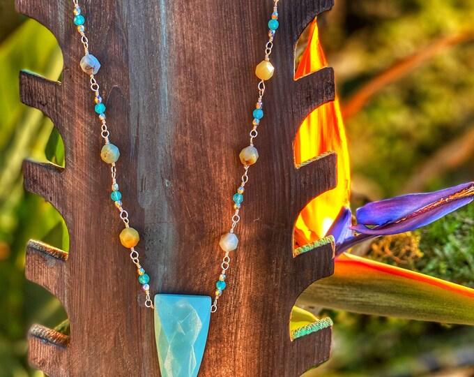 Amazonite Shield Necklace