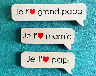 3 magnets of your choice, Valentine's Day Gift, Humor, Quebec, for Chalkboard, made in Quebec, Mabie Ecodesign