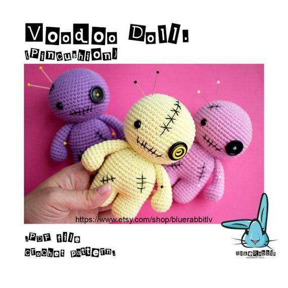 Voodoo doll creepy cute doll black doll crochet amigurumi   Etsy   570x570