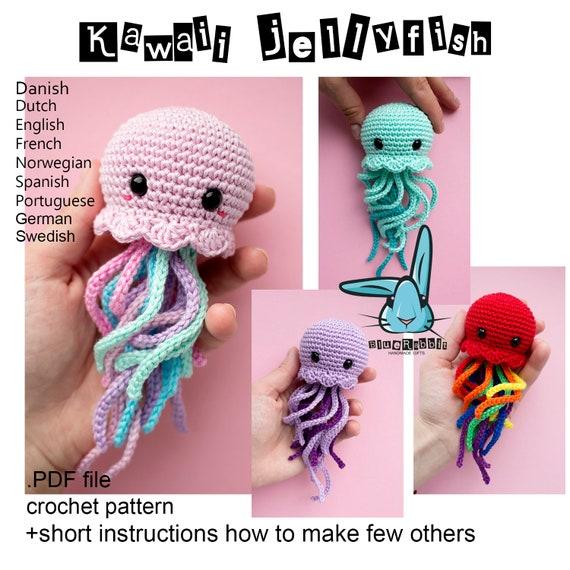 Kawaii Jellyfish amigurumi crochet pattern. Languages: | Etsy