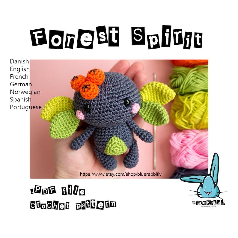 Amigurumi Forest Spirit pattern. Crochet pattern. Fantasy toy. image 0