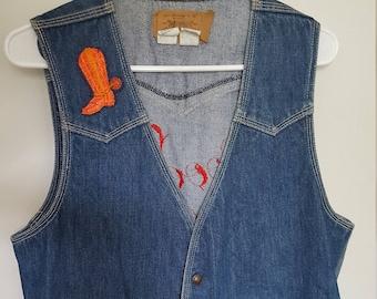 LEVIS Men's Vintage Embroidered Vest Denim Vest