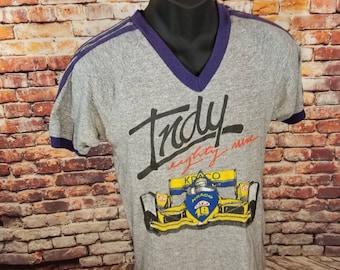 Unisex 1989 Vintage Indy 500 T-Shirt   Vintage Collectible Shirt   1989  Nascar Shirt 5fff1e884cf0