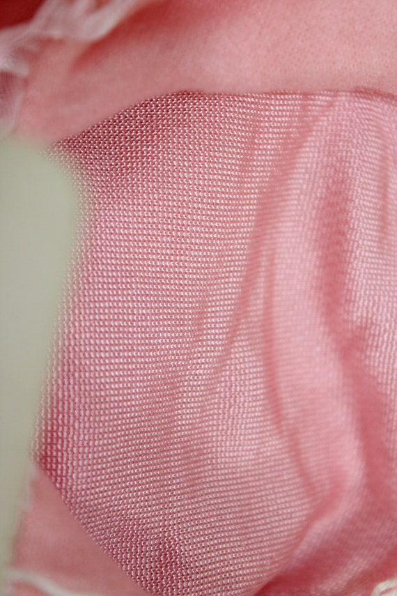 Vintage 1930's Lingerie BINSTRON Pink Bemberg Ray… - image 7