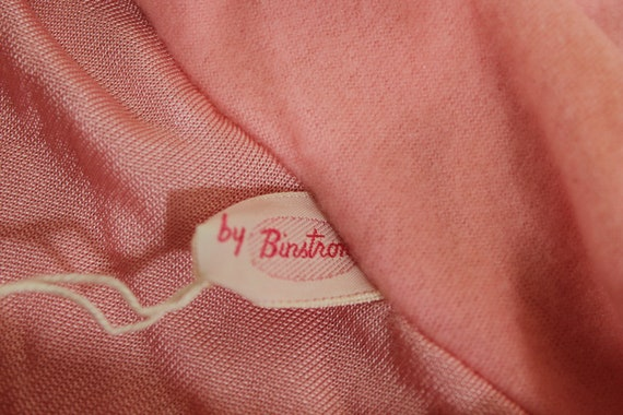 Vintage 1930's Lingerie BINSTRON Pink Bemberg Ray… - image 9