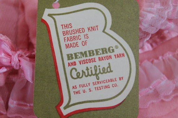 Vintage 1930's Lingerie BINSTRON Pink Bemberg Ray… - image 8