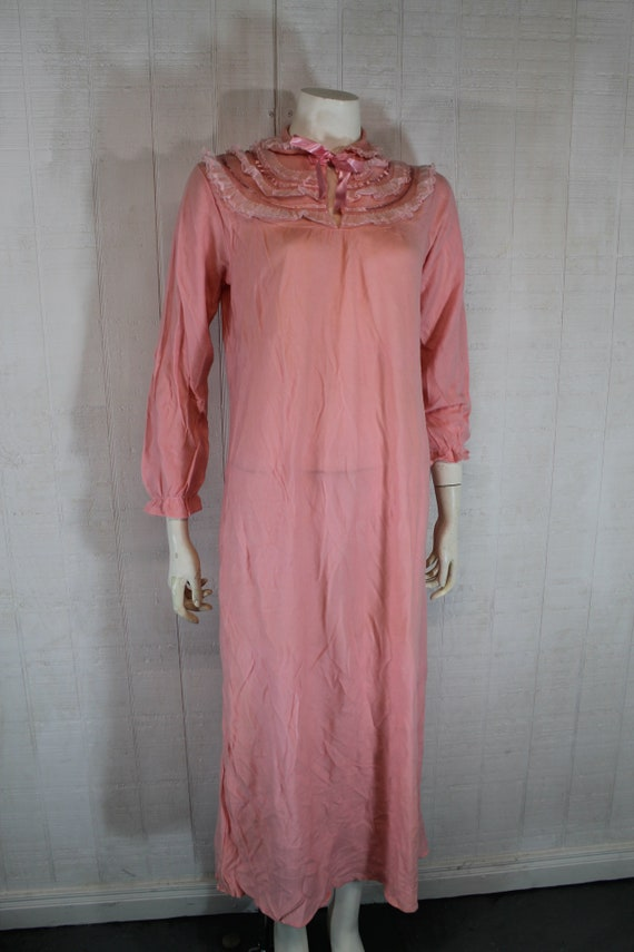 Vintage 1930's Lingerie BINSTRON Pink Bemberg Ray… - image 2