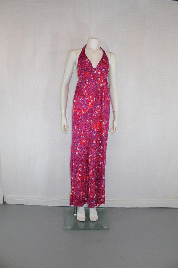 Vintage 1960's CATALINA JRS Red / Purple Nylon Flo