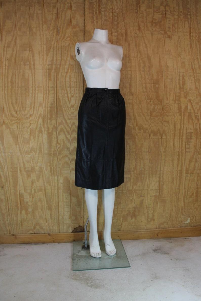 d0c671a4a56 Vintage 1980 s CJ TODD Saks Fifth Avenue Black Leather