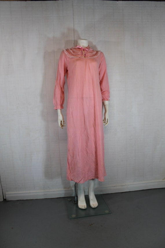 Vintage 1930's Lingerie BINSTRON Pink Bemberg Ray… - image 1