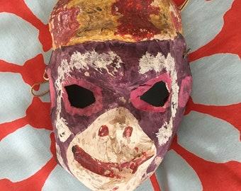 Antique Papier-Mâché Monkey Hanuman Mask   INDIA