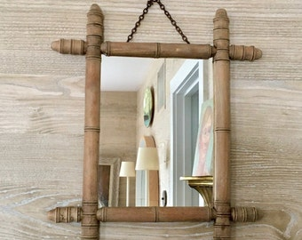 Charming Faux Bamboo Unfinished Wood Mirror   FRANCE