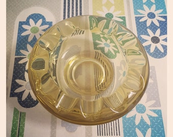 Sklo Union -  Cog Wheel ashtray/trinket bowl / Bohemia Glass - Libochoice