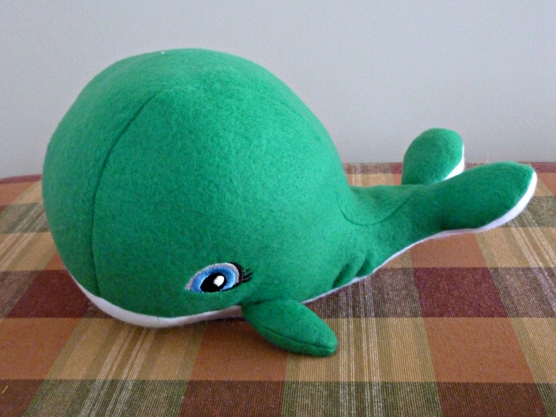 Stuffed Whale Set-Mom and BabyGreen Whale ToyChild Safe Plush WhaleStuffed Animal WhaleBaby Shower GiftNursery DecorToyfree shipping
