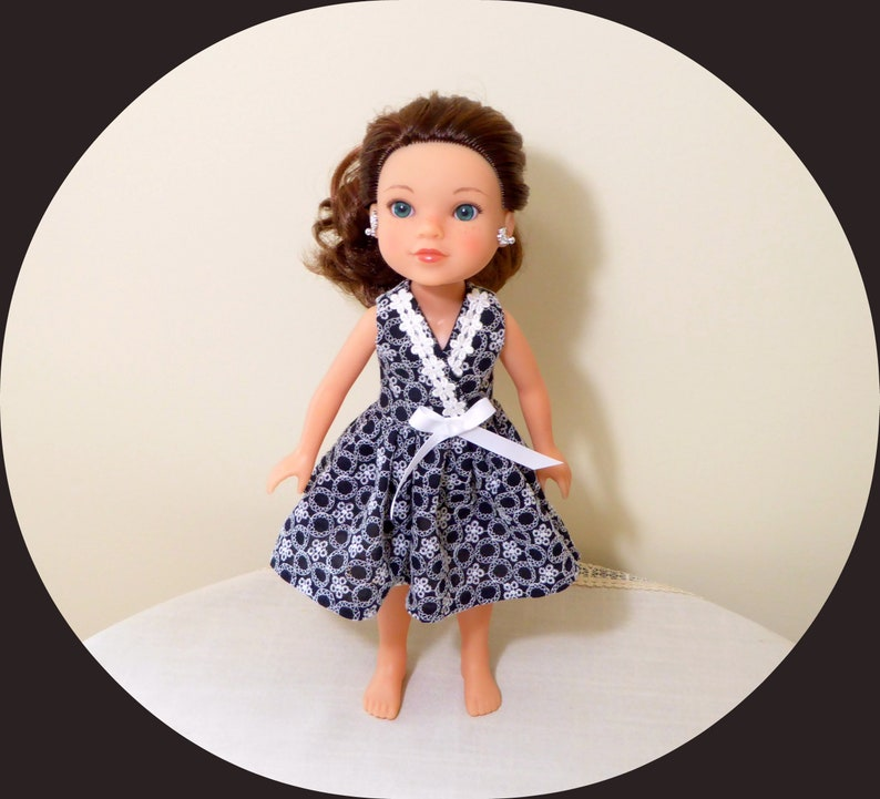 """Doll Clothes 14 1//2/"""" Dress Lavender Shoes Fits 14.5/"""" AG WELLIE WISHER DOLLS"""
