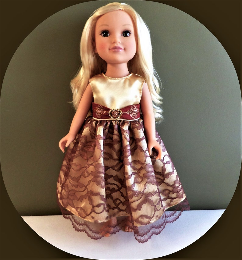 a99a1f40f6212 American Doll Evening Gown with Belt/18