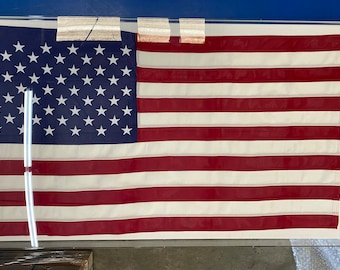 American Flag Framed in Acrylic 36x60 Flag in Clear Acrylic Shadow Frame Comes Ready to Hang