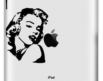 iPad decal sticker Marilyn Monroe art for Apple Tablet